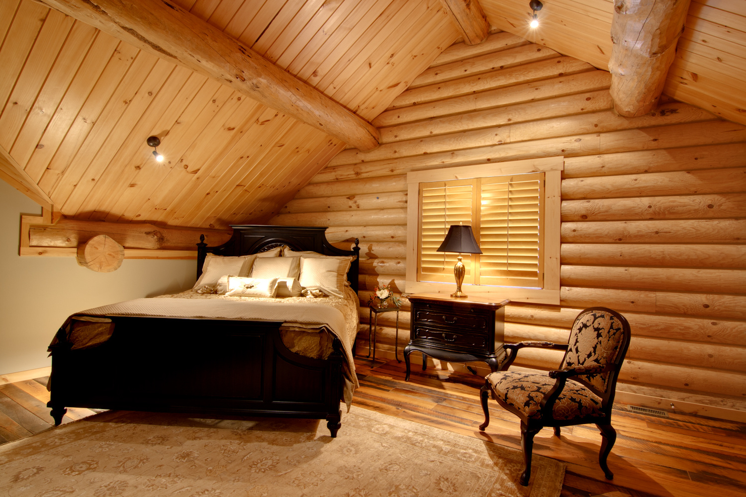Log Home Interiors Barth Log Home Bedroom 3