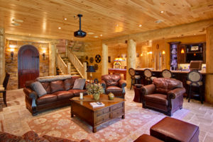 log home interiors Barth-Log-Home-Entertainment