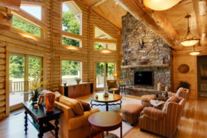 log home interiors Barth-Log-Home-Greatroom