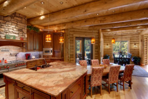 log home interiors Barth-Log-Home-KitDin-1