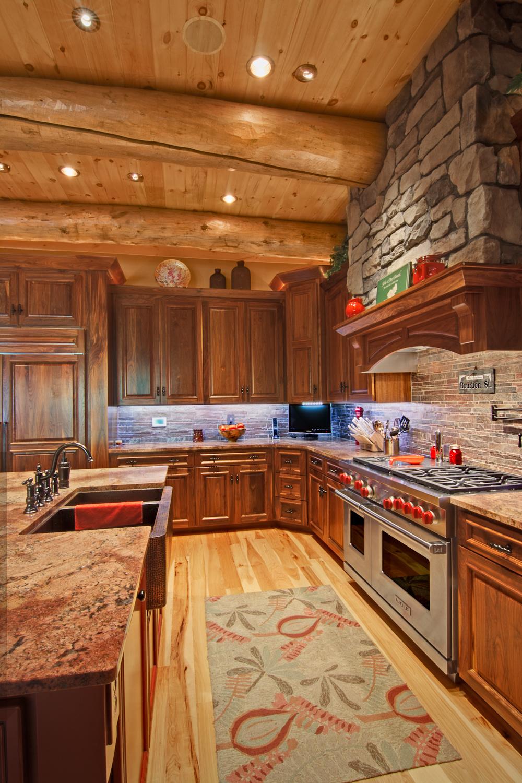 log home interiors. Log Home Interiors Barth Log Home Kitchen Interiors  Bayside Homes White Hall MD