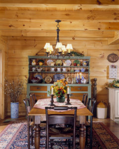 log home interiors, dining room4