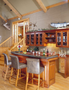 log home interiorsAndrews_bar